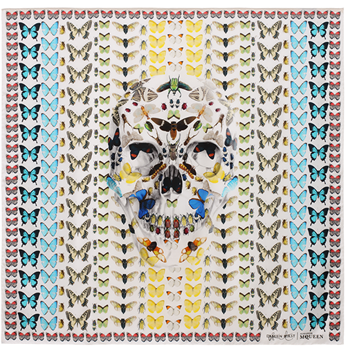 Alexander McQueen Damian Hirst Skull Butterfly Collaboration