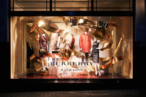 Burberry Christmas Window Display