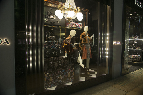 Prada Christmas Window Display